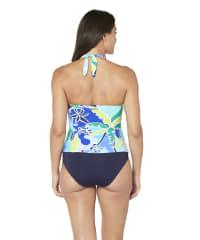 Nautica Halter Tankini Swimsuit Top - Blue - Back