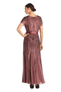 Sequin Godet Gown - Petite - Back