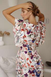 Carmen Wrap Maxi Dress - Back