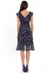 Bailey V-Neck Ruffle Wrap Dress - Petite - Back