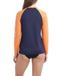 Nautica Color Block Swimsuit Rash Guard - Deep Sea - Back