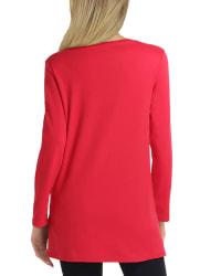 Isaac Mizrahi Long Sleeve Scoop Neck Pullover - Back