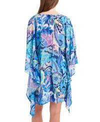 Tahari Paris Floral Wrap Cover - Back