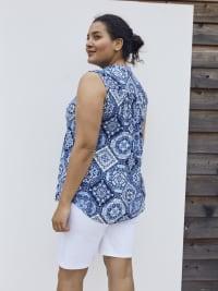 Roz & Ali Sleeveless Patchwork Popover - Plus - Back