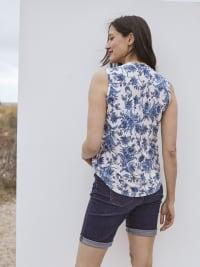 Roz & Ali Bijoux Blue Floral Jacquard Popover - Back
