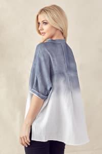 Wineva Hand Dip-Dyed Shirt - Back