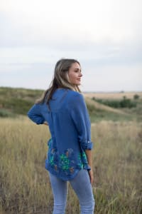 Embroidered Popover Blouse - Back
