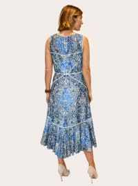 Taylor Printed Lace High Low Dress - Back