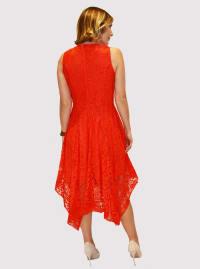 Taylor Lace Asymmetrical Midi Dress - Back