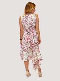 Taylor Floral Satin Dress - Back