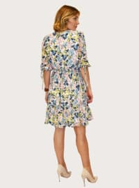 Taylor Floral Print with Smocked Waist Dress - Back