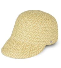 Jones NY Pattern Straw Cap Hat - Back