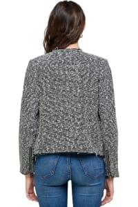 Kaii Tweed Boucle Biker Jacket - Back