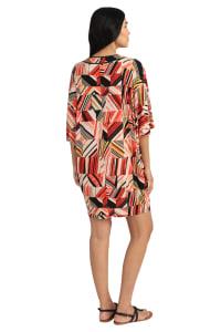 Riley Printed V-Neck Kaftan Dress - Back
