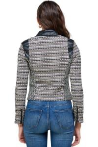 Kaii Fabric Mix Jacquard Bike Jacket - Back