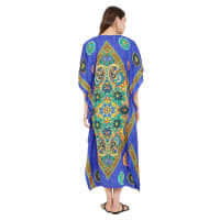 Polyester Kaftan Long Maxi Dress - Plus - Back