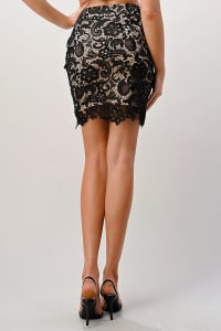 Kaii Lace Midi Skirt - Back