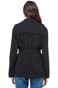 Kaii Draped Collar Trench Coat Jacket - Back