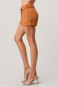 Kaii Rhine Stone Pocket Detail Shorts - Back