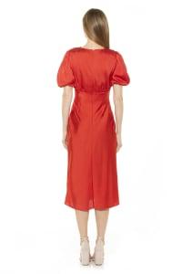 Feliicty Bubble Sleeve Midi Dress - Back