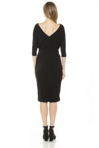 Paris Long Sleeve Dolman Sheath Dress - Back