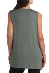 Isaac Mizrahi V-Neck Cotton Pullover Top - Back