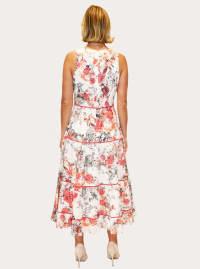 Taylor V-Neck Midi Cotton Voile Dress - Back