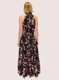 Taylor Cut Away Floral Print Maxi Dress - Back