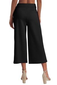 Isaac Mizrahi Pull On Wide Leg Pant - Back