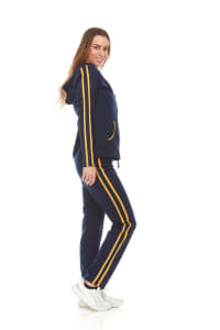 Hoodie Jog Set With Trim On Top And Pant - Back