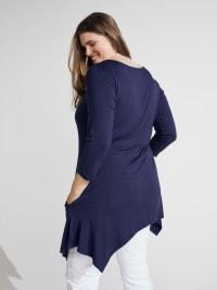 Makayla 3/4 Sleeve Tunic Top - Plus - Back