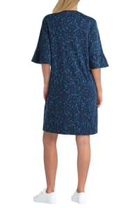 Isaac Mizrahi Flounce Cotton Dress - Back