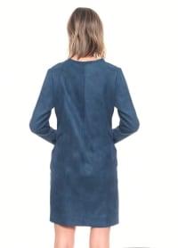Aurora Long Sleeve Round Neck Dress - Peacock - Back