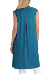 Isaac Mizrahi Knit Cotton Vest - Back