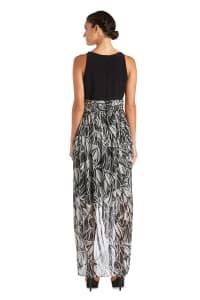 High-Low Floral Print Maxi Dress - Back