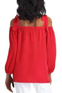 Gigi Parker Off the Shoulder Polyester Top - Back