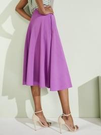 Tasmin Flare Floral Midi Skirts - Plus - Purple - Back