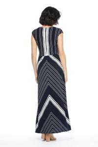 Lina Short Sleeve Maxi Dress with Twist Bodice - Back
