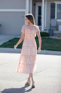Vienna Batik Maxi Peasant Dress - Back