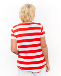 Onque The American Stripe Knit Tunic Top - Back