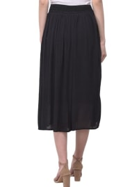Solid Elastic Rayon Skirt - Back