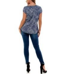 Adrienne Vittadini Buckled Neck Asymmetrical Tee - Back