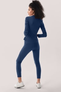 Slim-Line Long Sleeve Zip Up Jacket - Back
