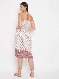 Paisley Pattern Sleeveless Short Tube Dress - Back