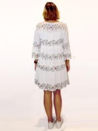 Floral Stripe Babydoll Dress - Back