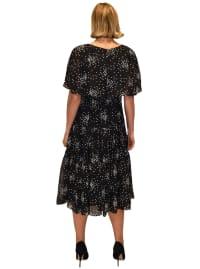Maison Tara Scattered Dot Capelet Dress - Back