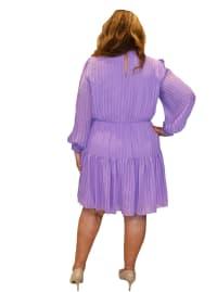 Maison Tara V-Neck  Dress - Plus - Back