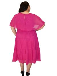 Maison Tara Capelet Dress - Plus - Back