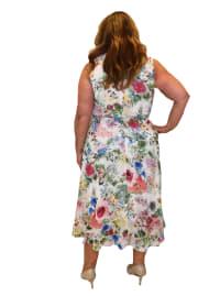 Maison Tara Sleeveless Wrap Dress - Plus - Back