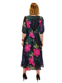 Maison Tara Large Floral Wrap Dress - Back